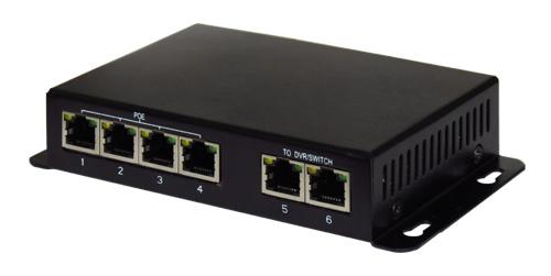 PoE Ethernet коммутатор (switch) BeEye-PoE-4